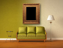 Double coloured interior of living room Royalty Free Stock Photography
