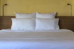 Double comfortable bed Stock Image
