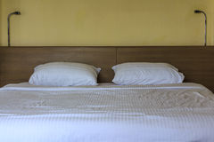 Double comfortable bed Royalty Free Stock Photos