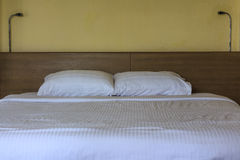 Double comfortable bed Royalty Free Stock Images