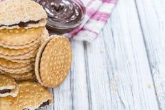 Double Cookies (with Chocolate Cream) Stock Photo