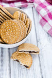 Double Cookies (with Chocolate Cream) Stock Images