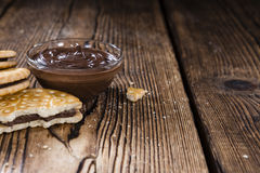 Double Cookies (with Chocolate Cream) Royalty Free Stock Images