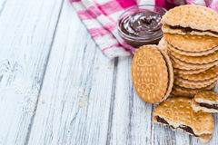 Double Cookies (with Chocolate Cream) Royalty Free Stock Image