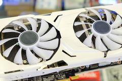 Double cooling fan of graphic card Royalty Free Stock Images