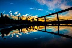 Double coucher du soleil Photo stock