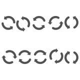 Double couleur de gris de flèches de cercle Images libres de droits
