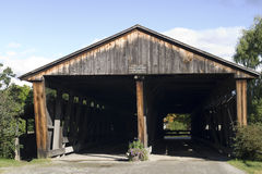 Double covered bridge Stock Images