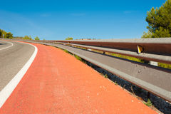 Double crash barrier Stock Image