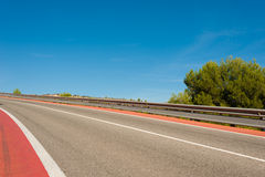 Double crash barrier Stock Photo