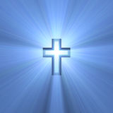 Double Cross Symbol Blue Light Flare Stock Photo