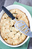 Double crust apple pie Royalty Free Stock Image