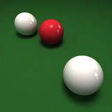 Double cue ball Stock Photography