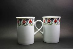 Double cup. Glasses with Turkish or ottomans motifs Royalty Free Stock Photography