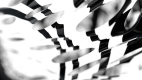 Double déplacement de graphique, composition en rendu 3D, tache floue Bokeh De Photos stock