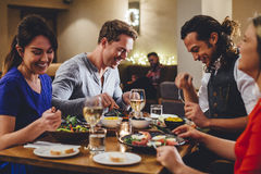 Double Date Dining royalty free stock photography