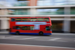 Double decker bus. Abstract od London double decker bus on the move Royalty Free Stock Image