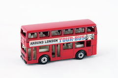 Double Decker Bus. Red London Bus, toy car Royalty Free Stock Photo