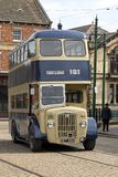 Double decker bus in Beamish Museum Stock Image