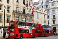 Double Decker bus. Es, one of the symbols of London Stock Image