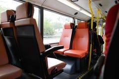 Double decker bus interior Royalty Free Stock Image