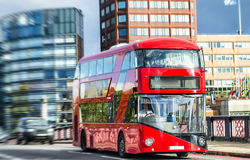 Double Decker bus on Lambeth bridge, London Stock Photos