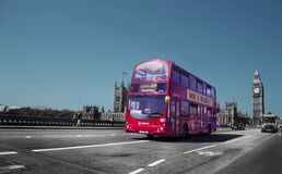 Double decker bus in London, England Stock Image