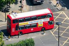 Double decker bus. LONDON - JUL 01, 2015: A Double-decker bus on the street in London Royalty Free Stock Photos
