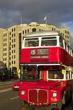 Double-decker bus, London. Red double-decker bus, London, UK Royalty Free Stock Image
