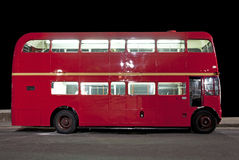 Double decker bus at night Royalty Free Stock Photography