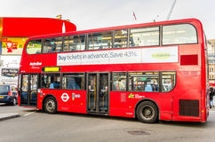 Double-decker Bus. In Piccadilly Circus, London Royalty Free Stock Photo
