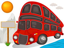 Double decker bus travel icon Royalty Free Stock Photography