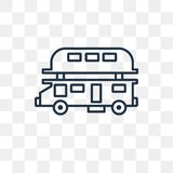 Double decker bus vector icon isolated on transparent background royalty free illustration