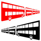 Double decker buses Stock Photos