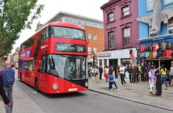 Double-decker on Chalk Farm Road Stock Images