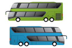 Double decker coaches Royalty Free Stock Image