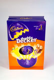 Double Decker Easter Egg. CHESTER, UNITED KINGDOM - March 19 2017: Cadbury`s Double Decker Easter Egg box. A popular chocolate treat for the Easter holidays Royalty Free Stock Photography