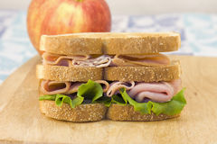 Double Decker Meat Sandwich Royalty Free Stock Photography