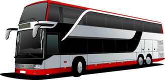 Double Decker  red bus Stock Images