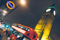 Double decker red London bus and Big Ben Royalty Free Stock Image