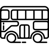 Double Decker Side View Icon Vector vector illustration