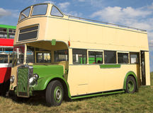 Double Decker Sight-seeing Bus. Line of disused double-decker buses, the one in the foreground has no roof and would have been used on sight-seeing trips Stock Photography