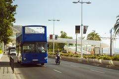 Double-Decker tourist bus. ALICANTE, SPAIN - SEPTEMBER 9, 2014: Double-Decker tourist bus on the street Avenida Juan Bautista Lafora in the city of Alicante Stock Photography