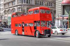 Double decker tourist bus in in San Francisco Royalty Free Stock Photo