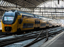 Double-decker train Stock Image