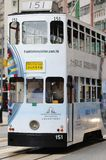 Double-decker tram in Hong Kong. Stock Images
