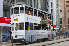Double-decker tram Royalty Free Stock Photography
