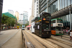 Double-decker tram Stock Photos