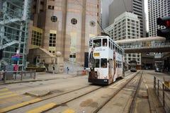 Double-decker tram Stock Photo