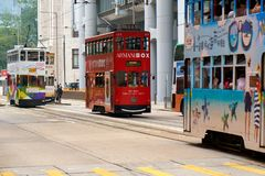 Double decker trams. Stock Image